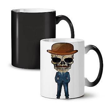 Dead Skeleton Suit NEW Black Colour Changing Tea Coffee Ceramic Mug 11 oz | Wellcoda