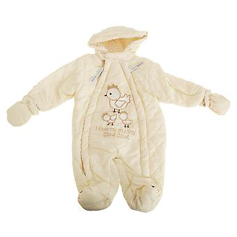 Nursery Time Baby Boys/Girls I Love My Mummy All In One Hooded Winter Snowsuit