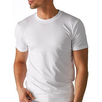 Algodão seco cor sólida branca Top de manga curta Mey 46103-101 masculino