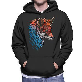 Tribal Fox Mäns Hooded Sweatshirt