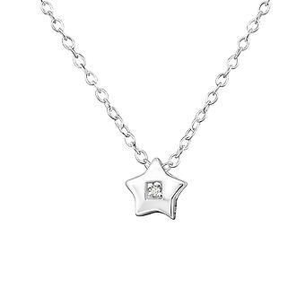 Stern - 925 Sterling Silber jeweled Halsketten - W35106x