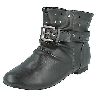 Girls Cutie Qt Ankle Boots With Stud Detail H4054