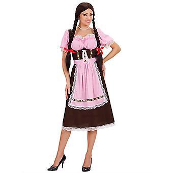 Bayersk kvinna kraftigt tyg kostym