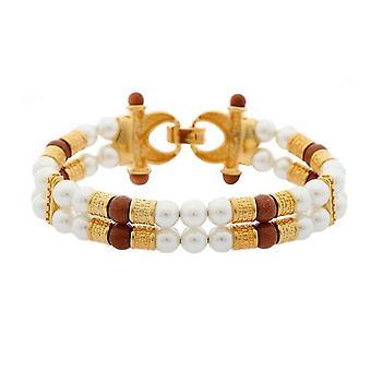 Misaki Mesdames bracelet en acier inoxydable or perles TITUS QCRBTITUS
