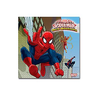Servietten Napkins Spiderman Warriors Kinderparty Geburtstag 33x33cm 20 Stück
