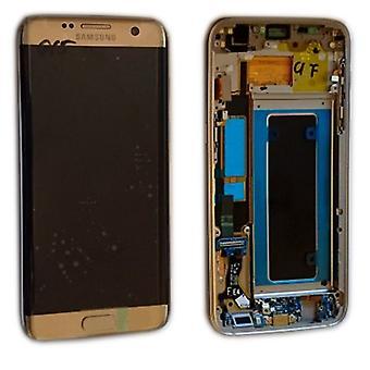 Display LCD complete set GH97-18533 C goud voor de Samsung Galaxy S7 edge G935 G935F