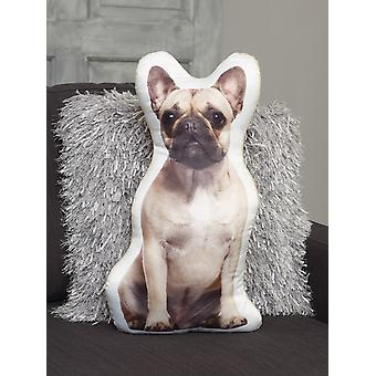 Adorable fawn french bulldog shaped cushion