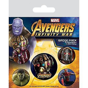 Avengers Infinity krigen Badges 5 Pack