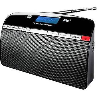 デュアルDAB 14ポータブルラジオDAB+、FMブラック
