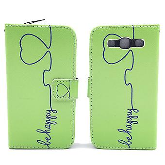 Mobile phone case pochette pour mobile Samsung Galaxy S3 / S3 neo be happy Green