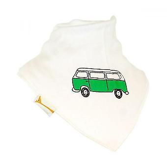 Weiße & grün Retro-Wohnmobil Bandana Lätzchen