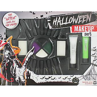 Grafix Halloween Make Up Set With Fake Nails - Witch