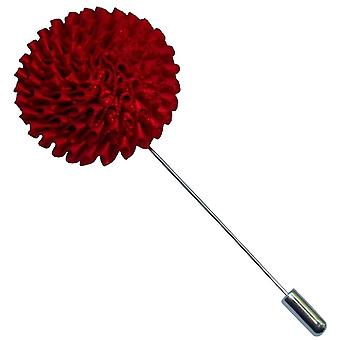 Bassin och brun krysantemum blomma jacka Lapel Pin - röd