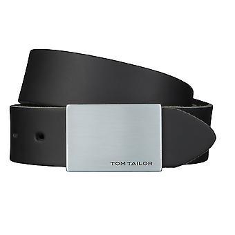 TOM TAILOR cuir de ceinture ceintures ceintures hommes 3,5 cm large noir 2509