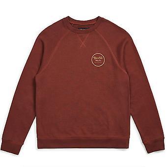 Brixton Wheeler Intl Sweatshirt marron