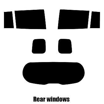 Pre cut window tint - Mazda Premacy MPV - 2011 to 2016 - Rear windows