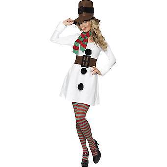 Miss Snowman kostuum, UK jurk 8-10