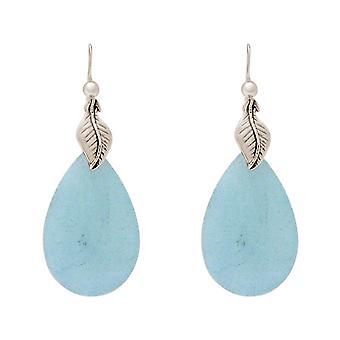 Gemshine naisten korva korut sininen Aquamarine jalokivet 925 hopea tai kullattu