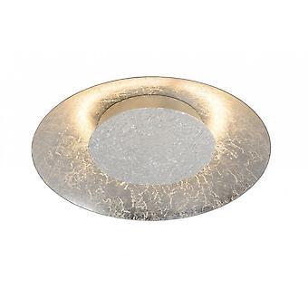 Modern Foskal lucide rond métal argent plafonnier encastré