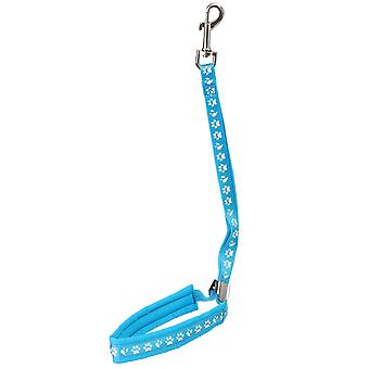 Groom Professional Audie Pro Noose Metal Slider Paw Print With Padding Cyan Blue 42cm