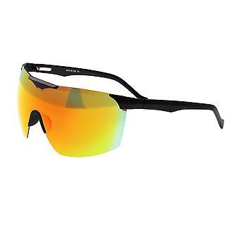 Sixty One Shore Polarized Sunglasses - Black/Red- Rainbow