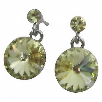 Matchende smykker Lite grønn kjole Peridot øredobber innlegg