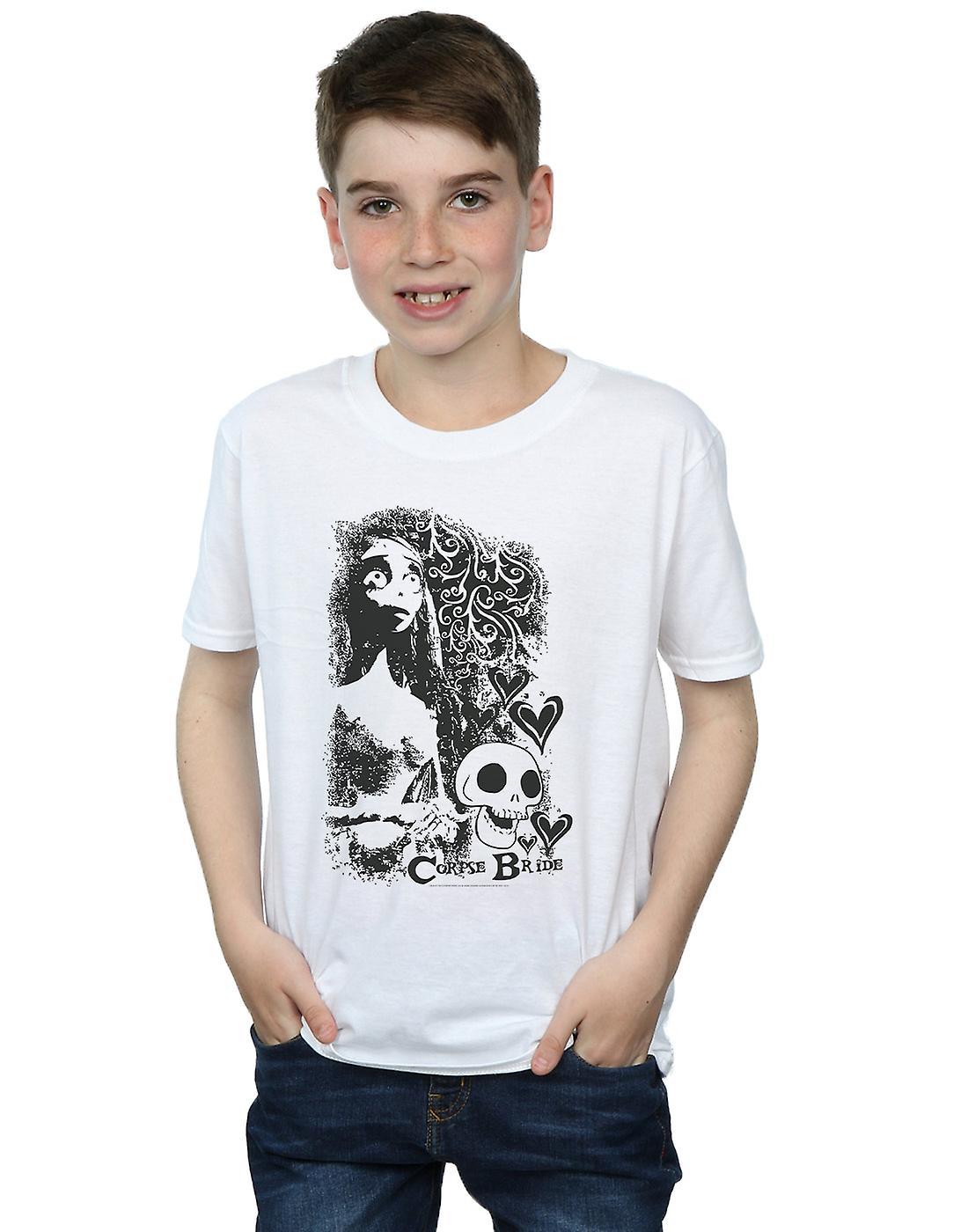 Corpse Bride Boys Skull Logo T-Shirt