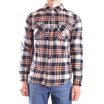 Superdry Ezbc114002 Hombres's Camisa de algodón multicolor
