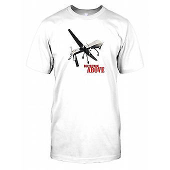 Predator Drone - Death from above Poster Mens T-Shirt
