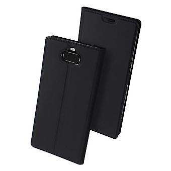 Dux Ducis Skin Pro Case For Sony Xperia 10 wallet Case Black