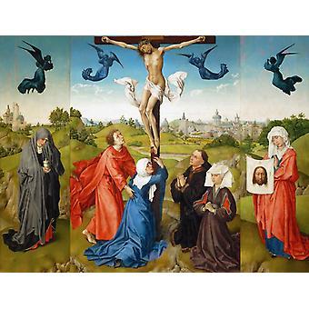 Распятие Триптих с СС, Рогира ван дер Вейдена, 50x38cm
