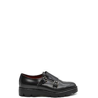 Santoni Ezbc023006 Women's Black Leather Monk Strap Shoes