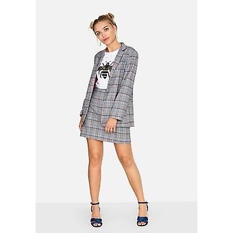 Girls On Film Womens/Ladies Avenue Check Blazer