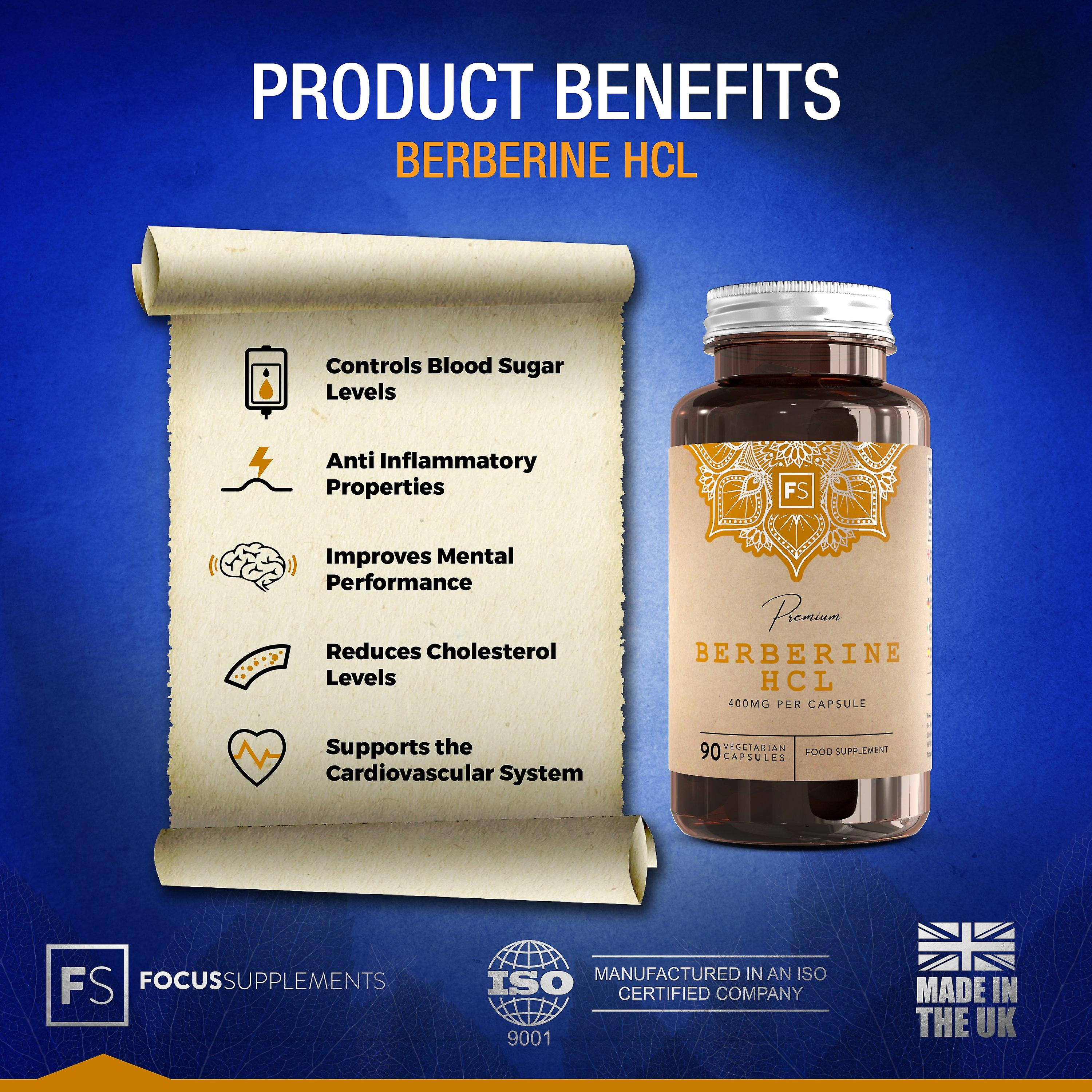 Berberine HCL (With Black Pepper Extract) 400mg - 270 Capsules