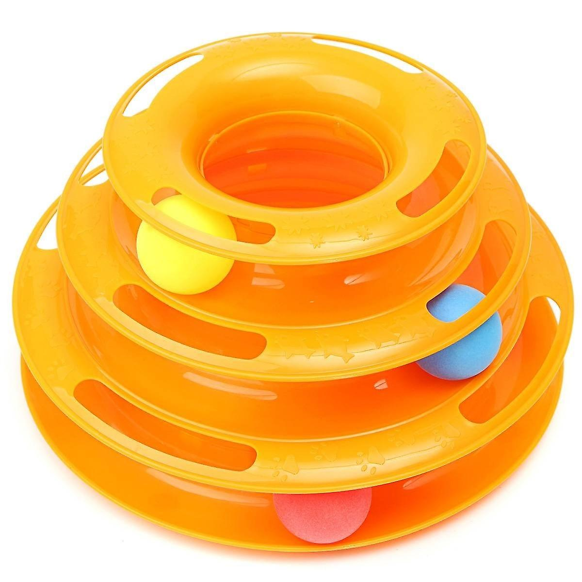 Games Labyrinth Ball Toy 3 Layers Plastic - Safe Toy for Cats and Dogs - Ball with Labyrinth and Sounds
