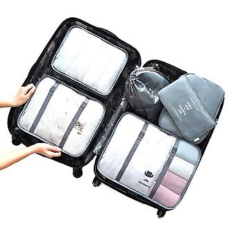Set of organizing bags, 6 pcs-Grey