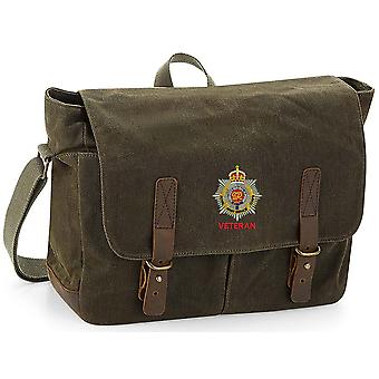 Royal Army Service Corps Veteran - Licensed British Army Embroidered Waxed Canvas Messenger Bag