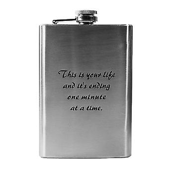 8oz this is your life flask l1