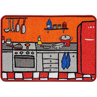 Wellindal Orange kitchen rug 44x65 cm (Kitchen , Kitchen Organization , Others)