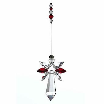 Garnet Guardian Angel Crystal Large