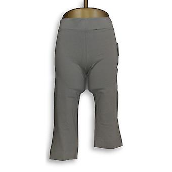 Women with Control Women's Pants Contour Waist Pull On Capri Gray A224368