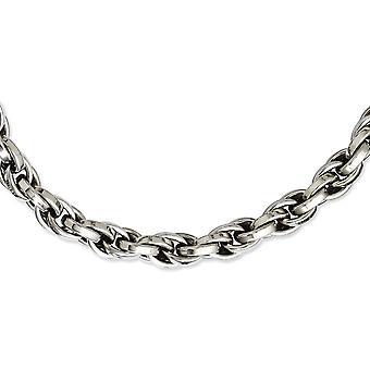 Edelstahl Fancy Hummer Verschluss poliert Oval Link 24zoll Halskette 24 Zoll Schmuck Geschenke für Frauen