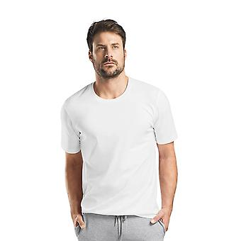 Hanro Men's Sleep & Lounge Living Leisure s/slv shirt white
