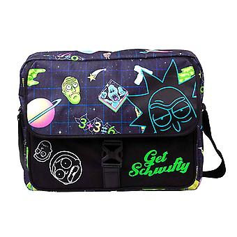 Rick och Morty Messenger Bag få Schwify utrymme all over Print officiella svart