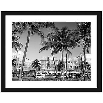 Foto in zwart frame, hotels en restaurants