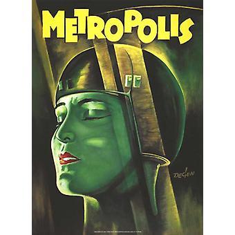 Cartel de reimpresión de Metrópolis (reimpresión de un solo lado)