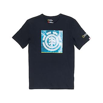 Element Solvent Icon Short Sleeve T-Shirt in Flint Black