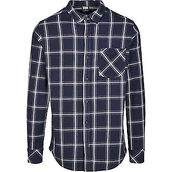 Urban Classics Men's Long Sleeve Shirt Basic Check