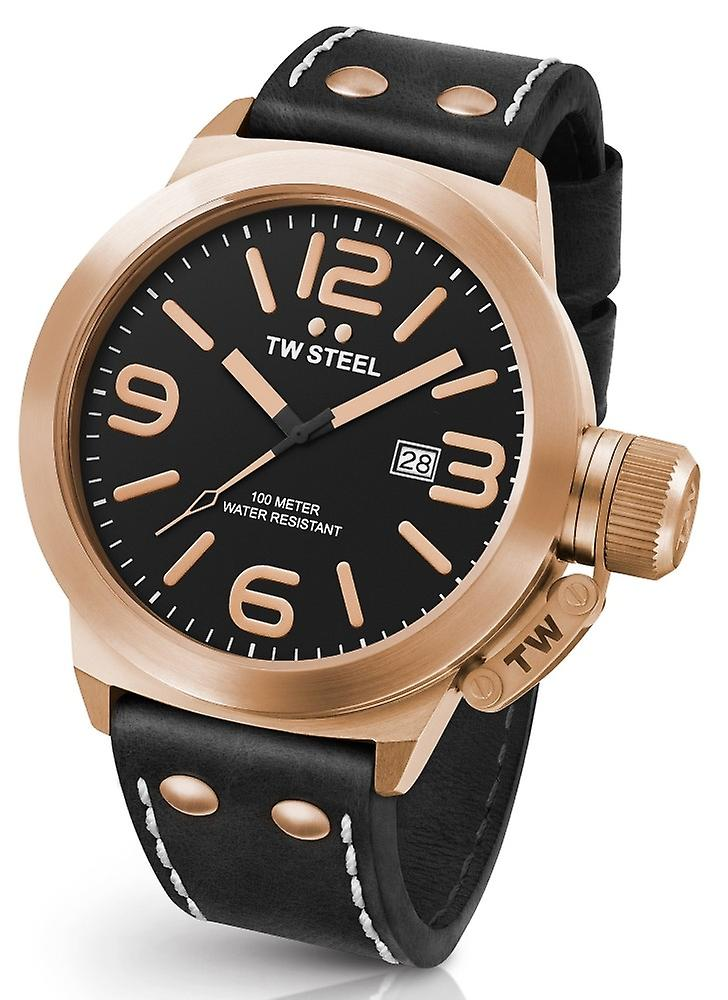 TW Steel Canteen Cs72 Leather Watch 50 Mm