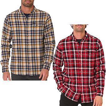 Animal Dalts Herre langærmet enkelt lomme flannel check skjorte